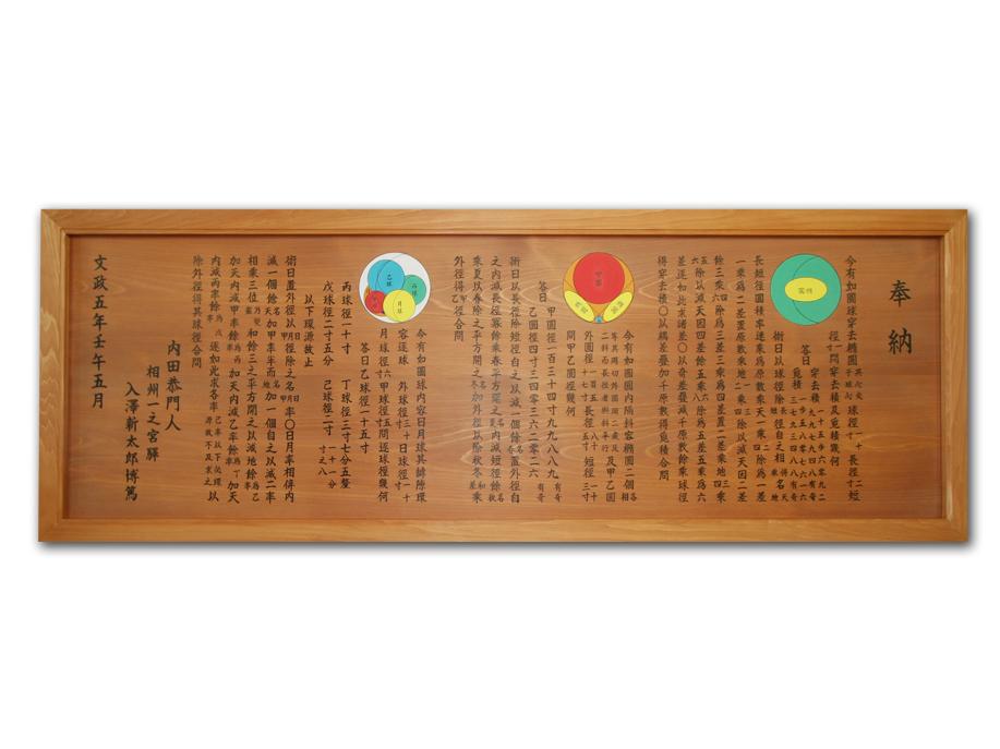 平成21年算額(復元絵馬)